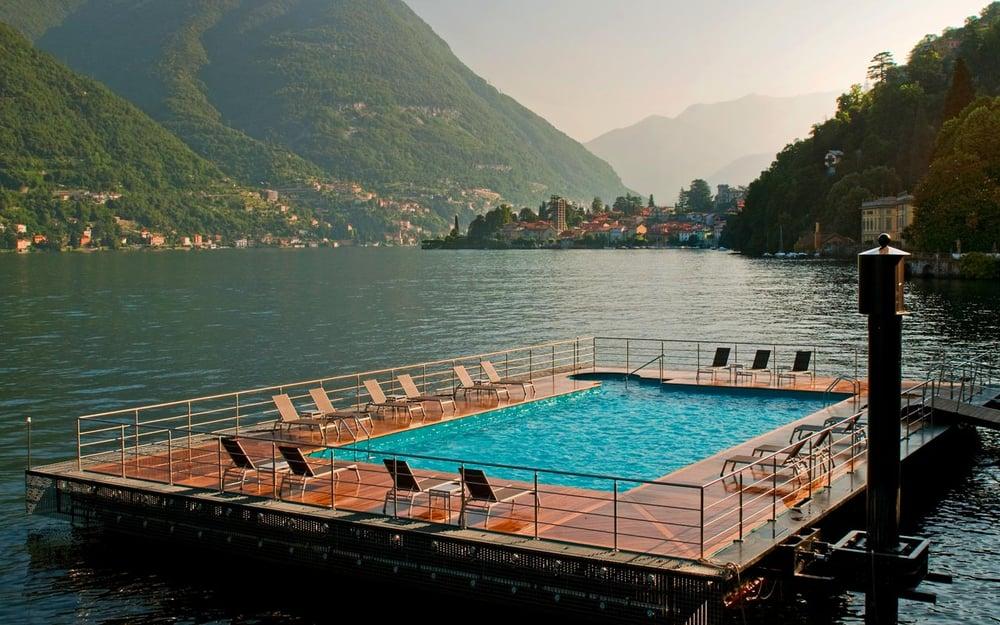 Piscina galleggiante castadiva resort spa blevio lago - Casta diva resort ...