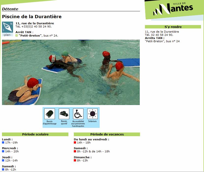 Piscine municipale de la duranti re swimming pools 11 for Piscine nantes gloriette