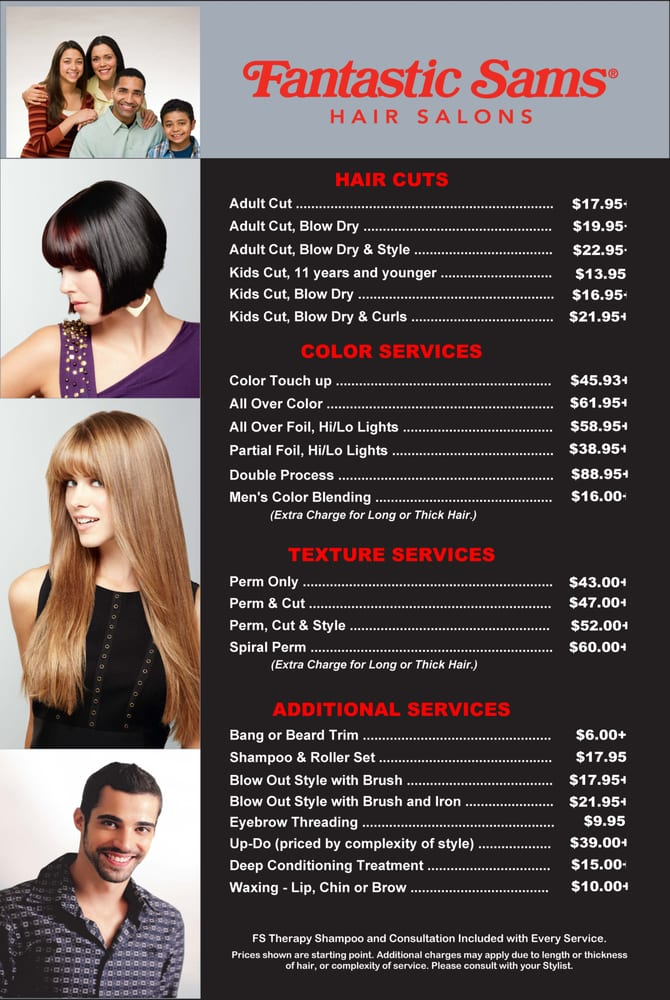 Fantastic sams 32 photos 62 reviews hair salons for F salon jaipur price list
