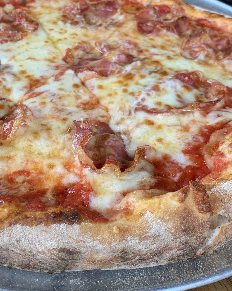 The Bee Bomb: Crushed tomato, mozzarella, hot soppressata, Capp's