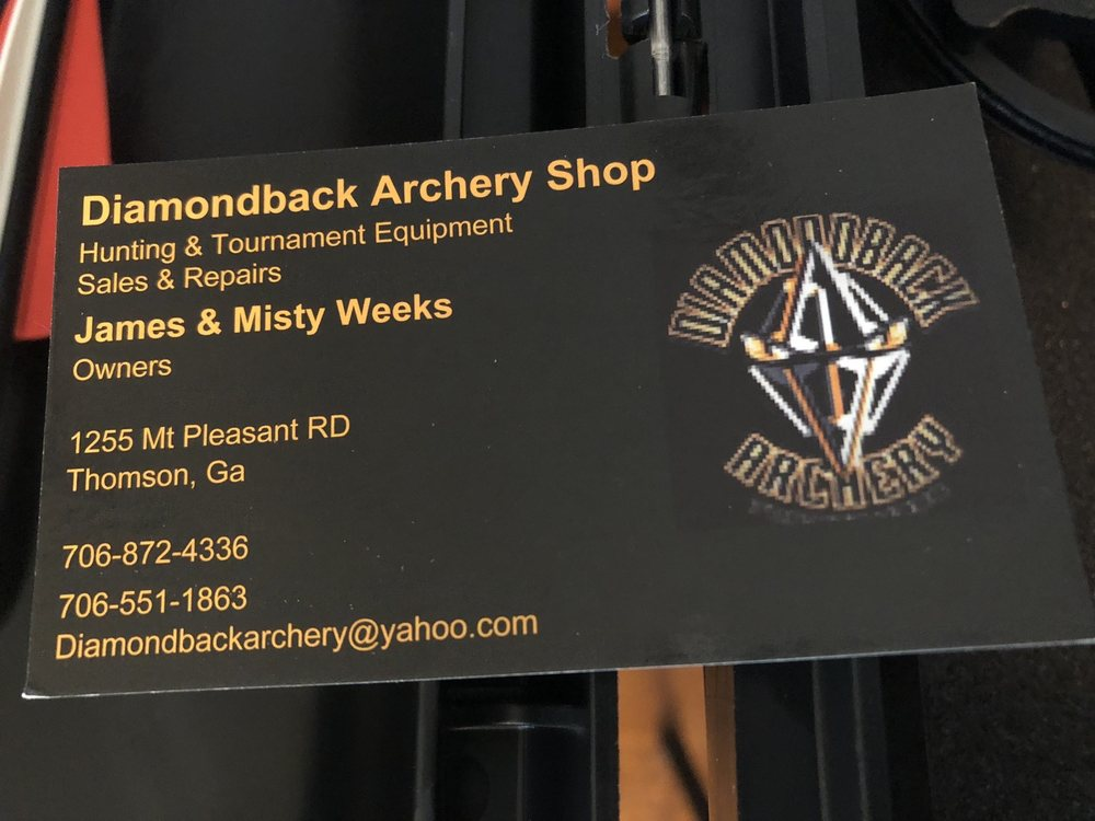 Diamondback Archery Shop: 4690 Scarber Rd, Gibson, GA