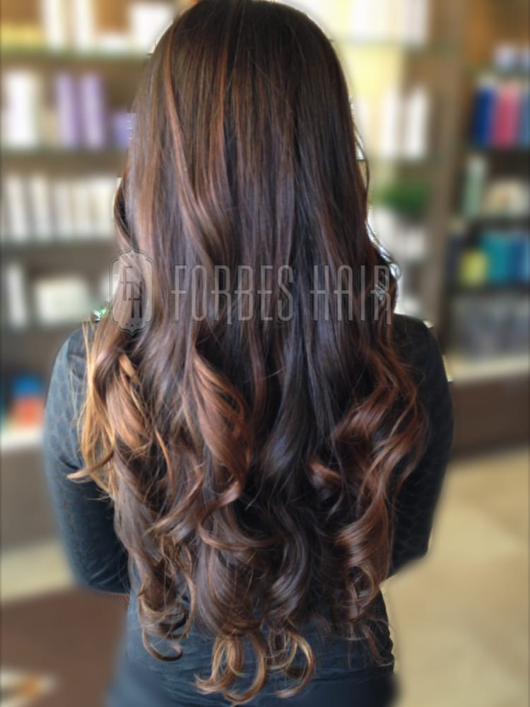 Balayage Highlights Custom Color Painted Hair Sombre