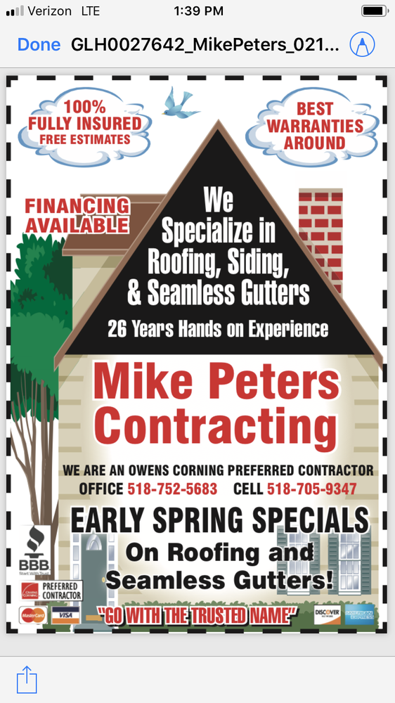 Mike Peters Contracting: 499 N Main St, Gloversville, NY