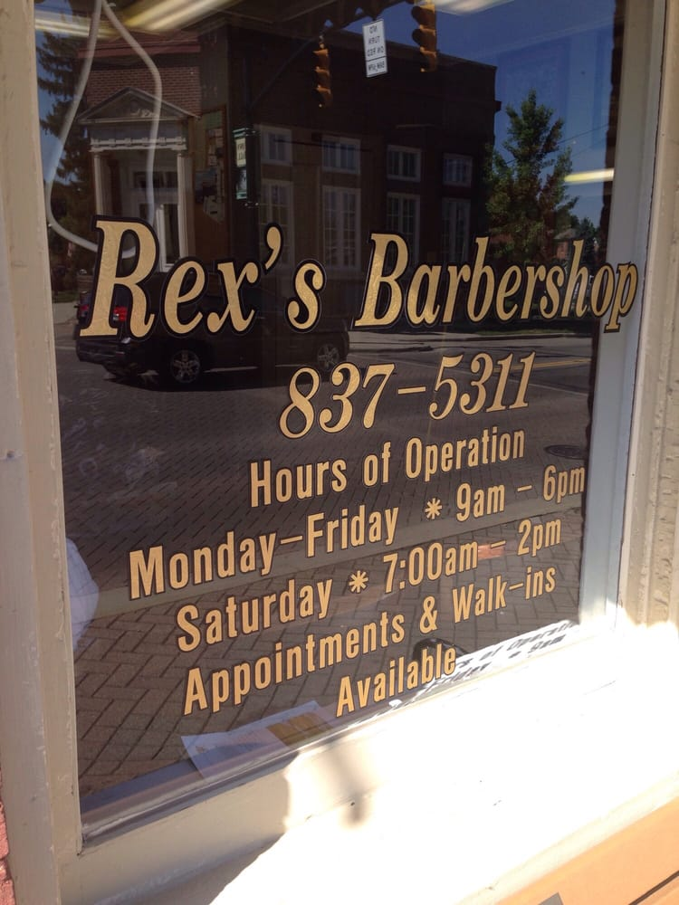 Rex's Barber Shop: 1 W Waterloo St, Canal Winchester, OH