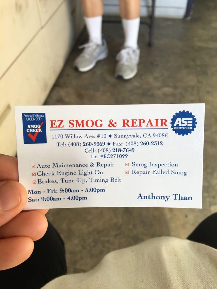 Ez Smog 38 Reviews Smog Check Stations 1170 Willow Ave