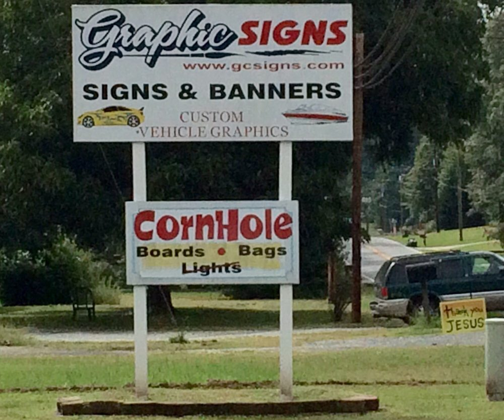 Graphic Signs: 8225 US 52 Hwy Rockwell, Rockwell, NC