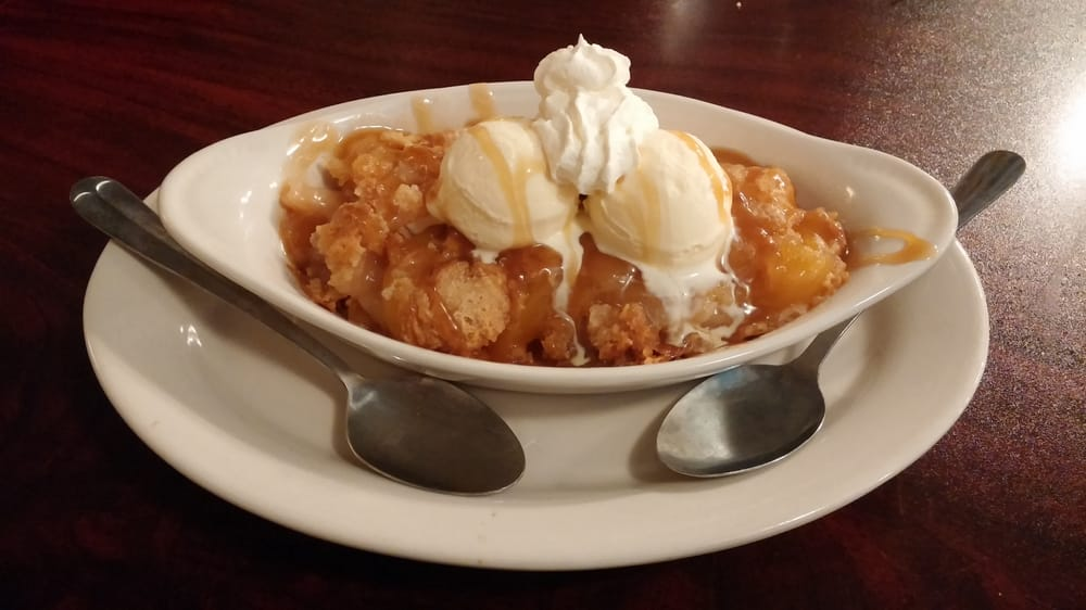 Homemade fruit cobbler yelp for Mr fish seafood restaurant