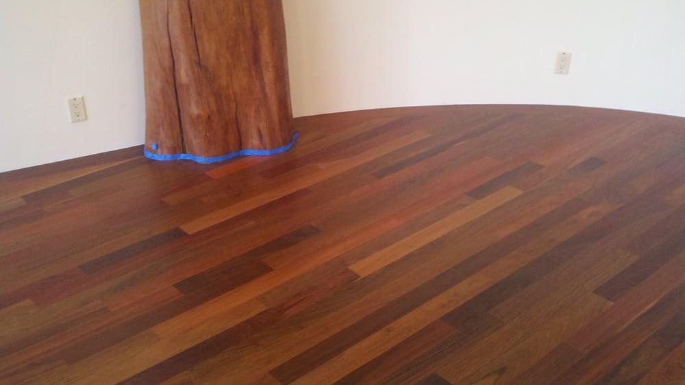 Brazilian Walnut Ipe Wood Flooring Installed Sanded And Finished