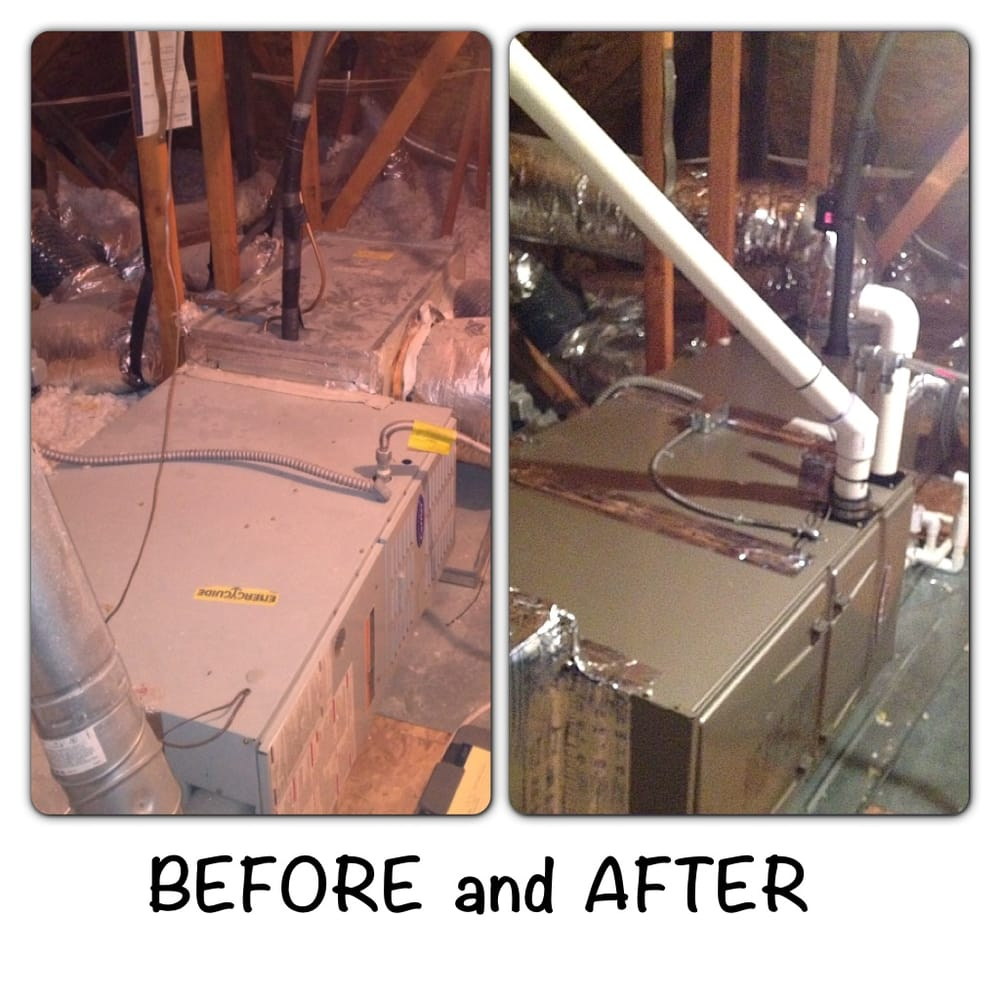 Before And After Attic Furnace Installation Yelp
