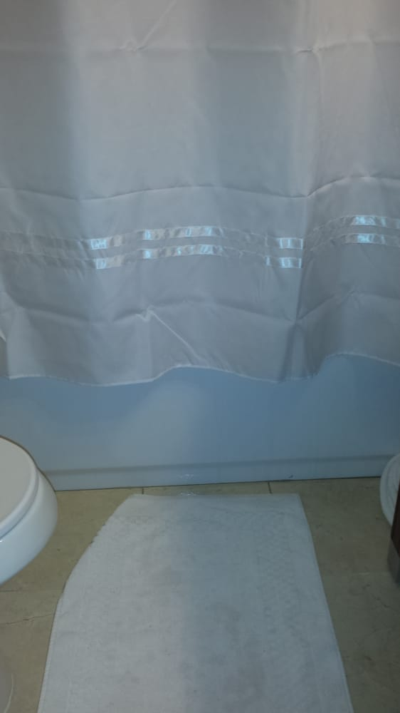 Shower Curtain On Curved Rod That Didn T Tuck Into The