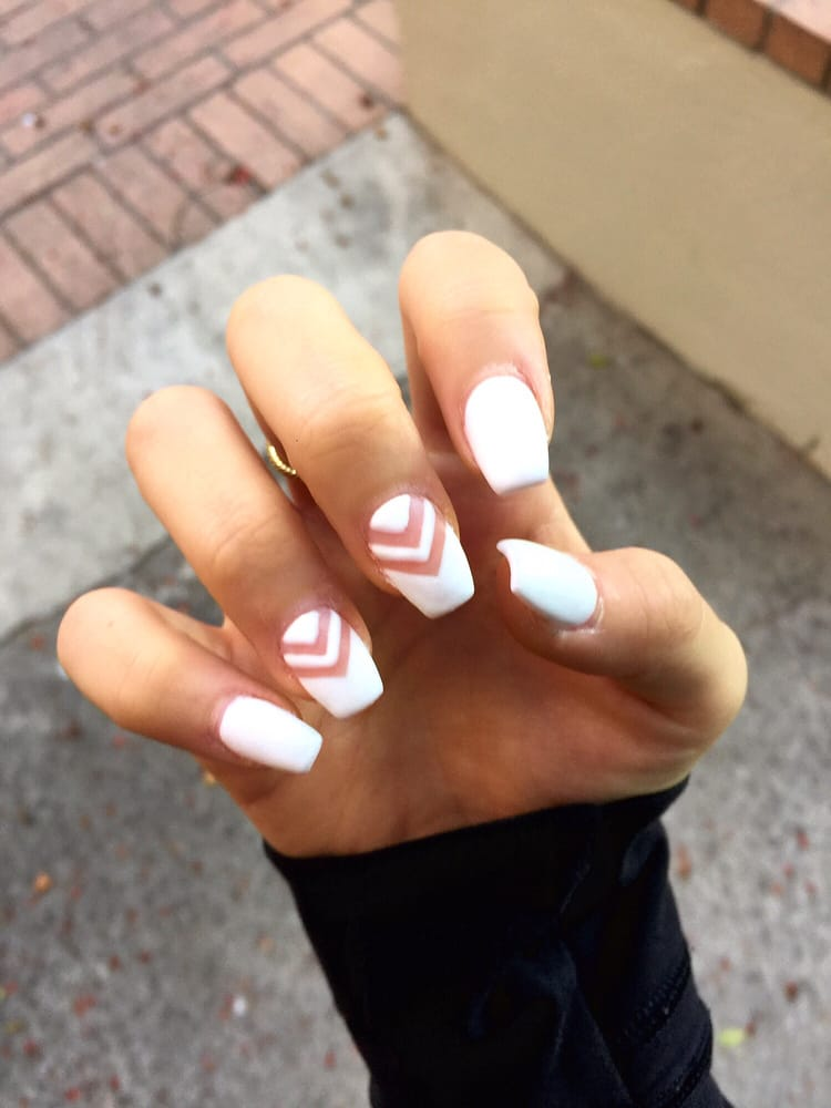 30 coffin shaped full set 10 gel 8 design yelp for A perfect 10 nail salon