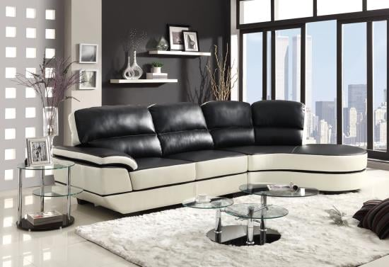 Madrid Bonded Leather Sectional Sofa Only $599. Sectional Measures ...