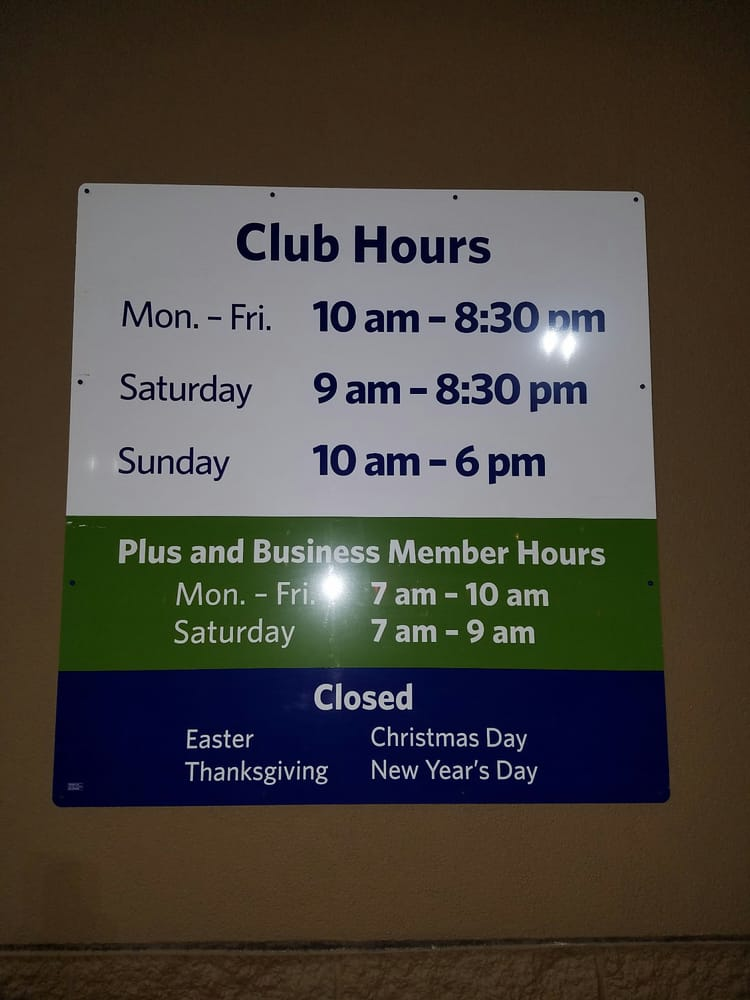What Time Does Sams Club Open On Sunday >> Stores Hours Yelp