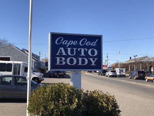 photo of cape cod auto body hyannis ma united states our new sign