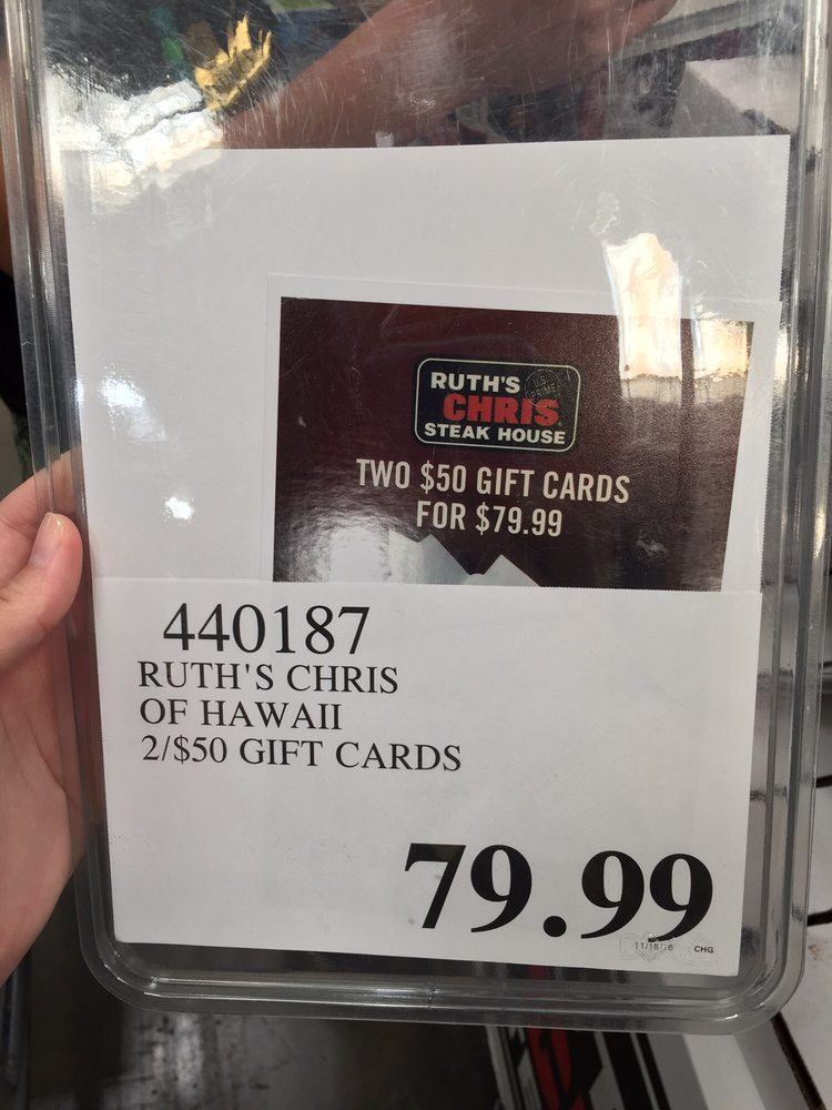 Photo of Costco Wholesale - Honolulu, HI, United States. Ruth's Chris gift cards