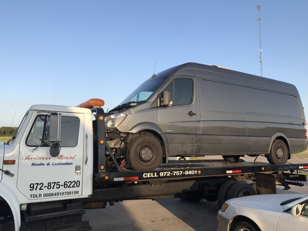 Twisted Metal Rod & Collision: 101 Ave F, Ennis, TX