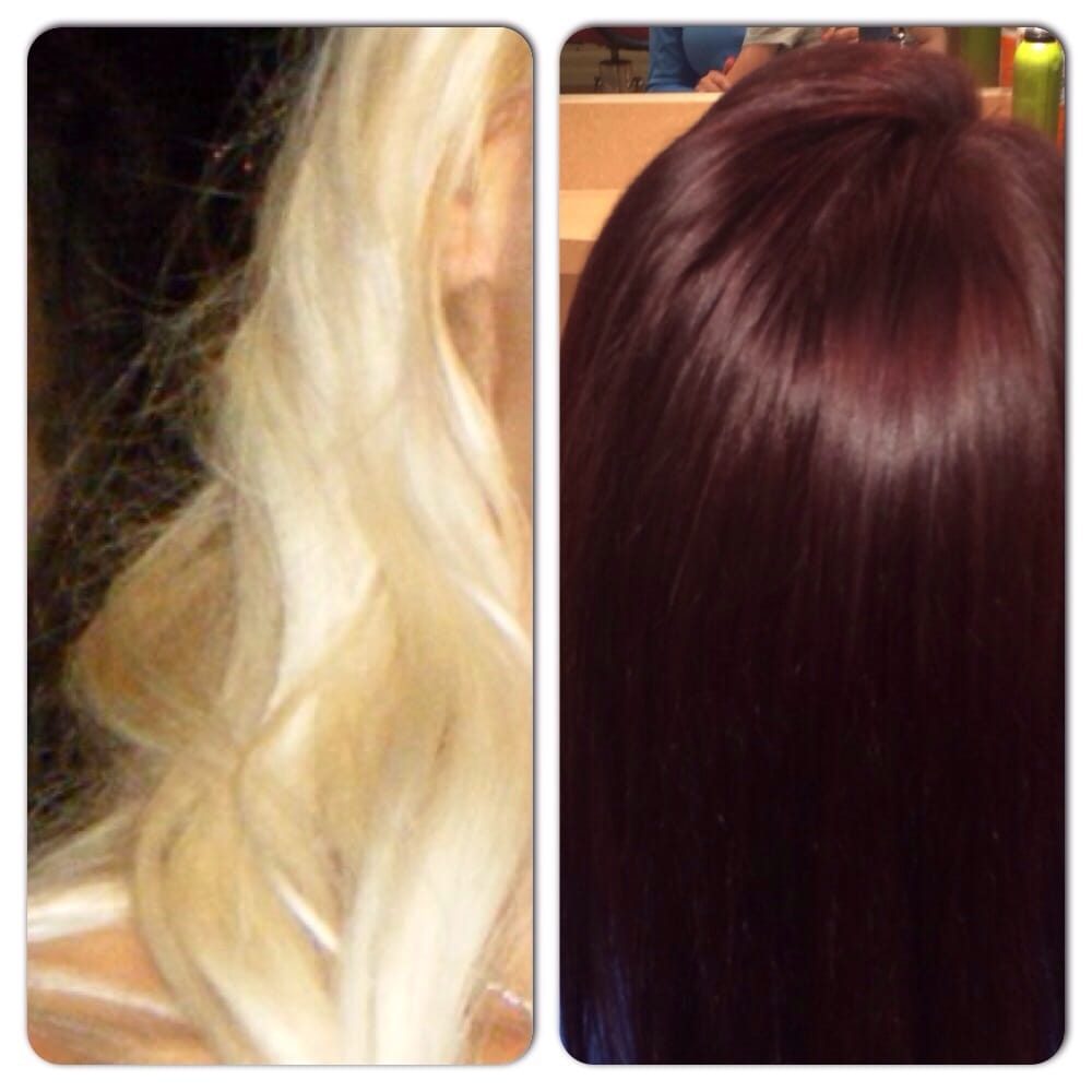 Blonde To Dark Level 5 Red Violet Color By Kimberly Yelp