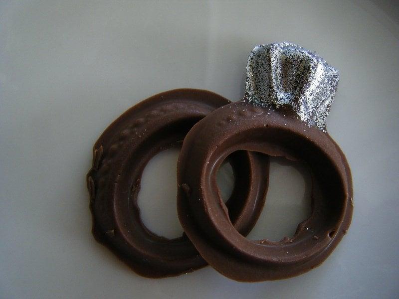 photo of kts chocolate creations placentia ca united states milk chocolate molded - Chocolate Wedding Rings