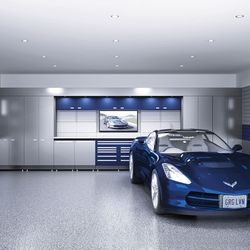 Photo Of Garage Living   Vaughan, ON, Canada. Complete Garage Makeovers    Floor