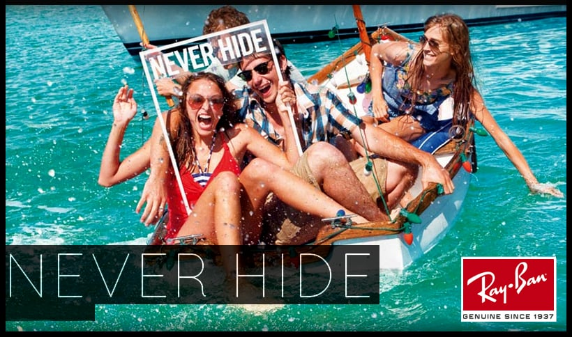Ray Ban Logo Never Hide