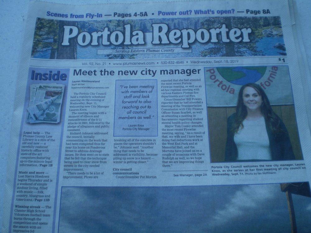 Portola Reporter: 133 W Sierra St, Portola, CA
