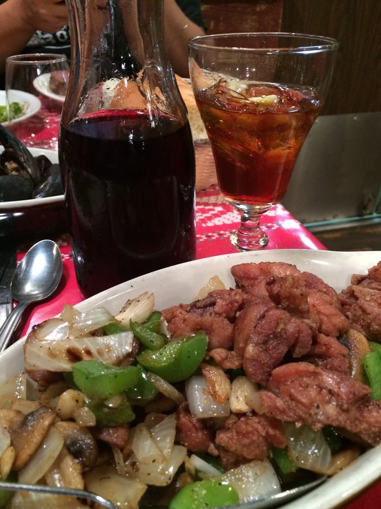 Louis' Basque Corner - Reno, NV, United States. Sweetbreads, Picon and wine! #basque #nevada #travelnevada