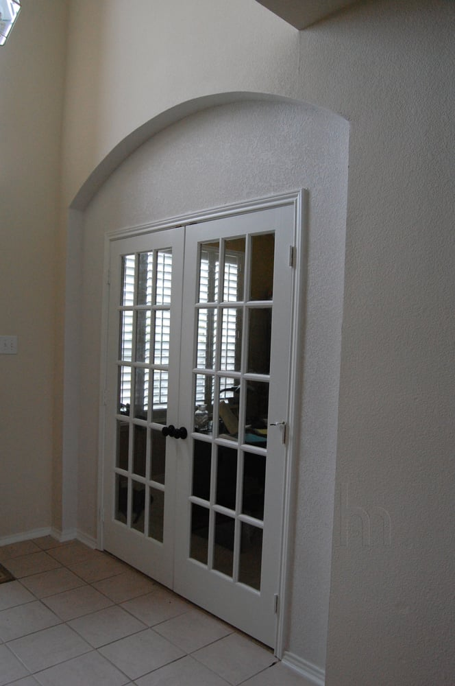 Enclosed Archway And Installed French Doors To Create A Study While Maintaining The Original