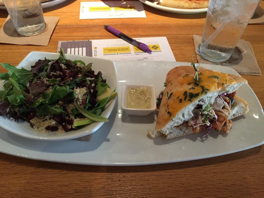 lunch spinach quinoa salad bbq chicken 1 2 sandwich yelp