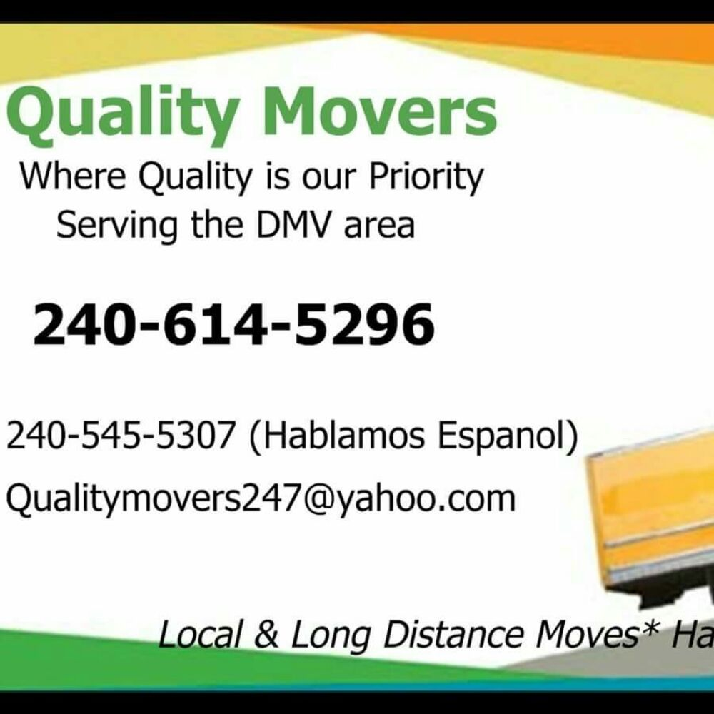 Quality Movers: 18000 Chalet Dr, Germantown, MD