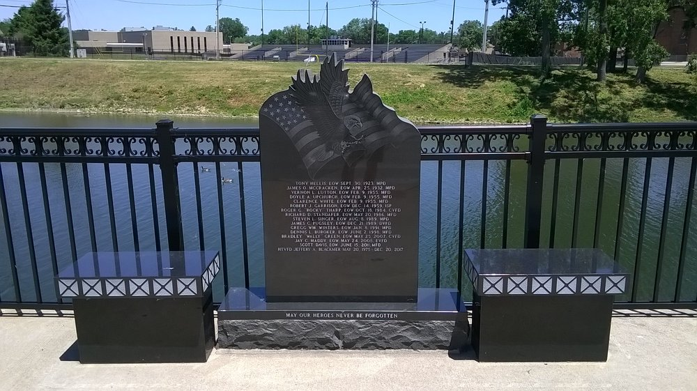 Fallen Heroes Bridge: 525 N High St, Muncie, IN