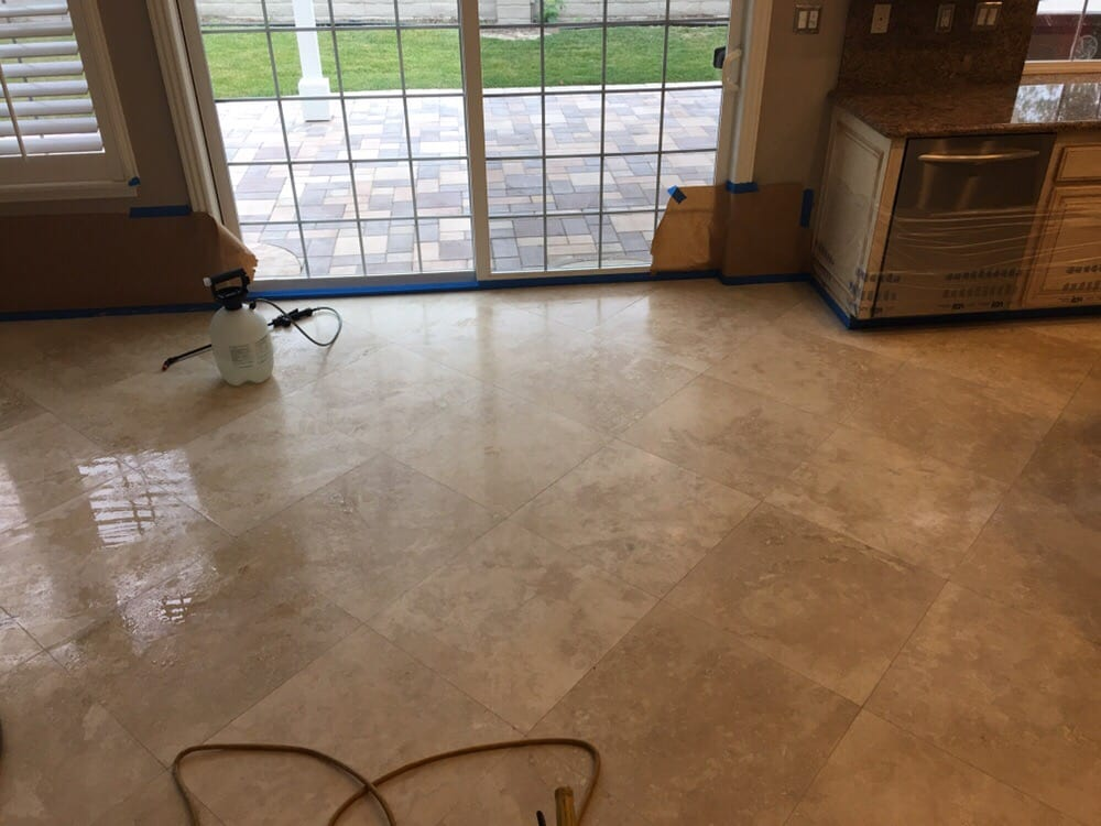 Unpolished Travertine Tile Floor Yelp
