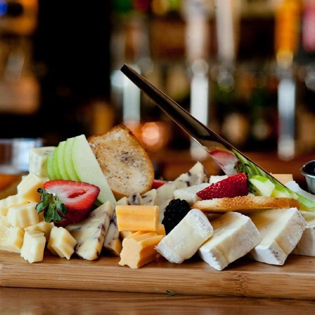 Photo of Barron\u0027s Cafe - Longview TX United States. Artisan Cheese Platter appetizer & Artisan Cheese Platter appetizer with crostini and assorted fruit ...