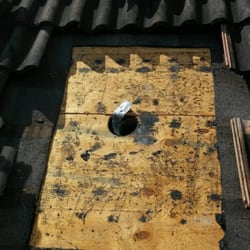Photo Of Paul Bange Roofing Davie Fl United States Repairing A Leaking