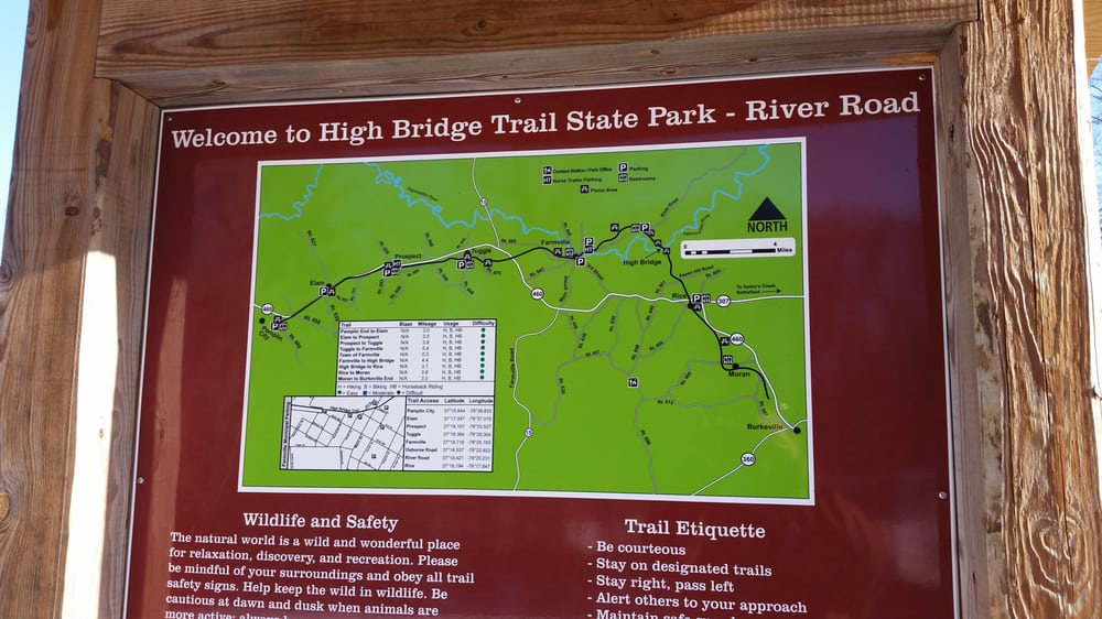 The map for High Bridge Trail State Park. - Yelp High Bridge Trail Map on