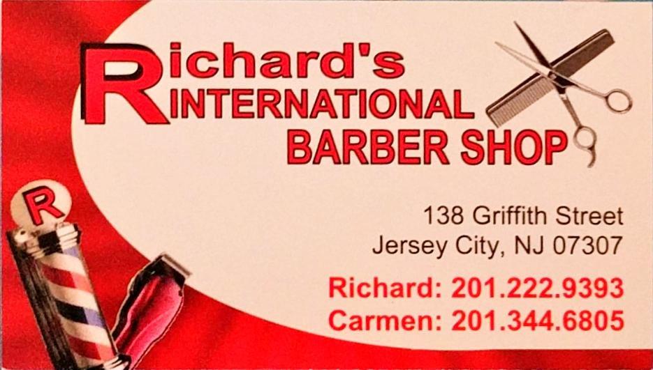 Richards business card yelp photo of richards international barber shop jersey city nj united states richards reheart Images