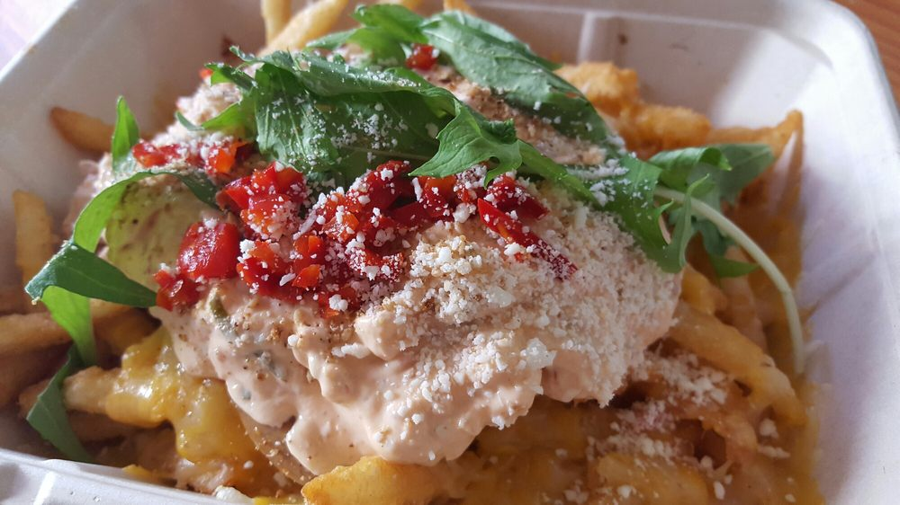 Ooey gooey fries skip way too spicy yelp for Chego los angeles