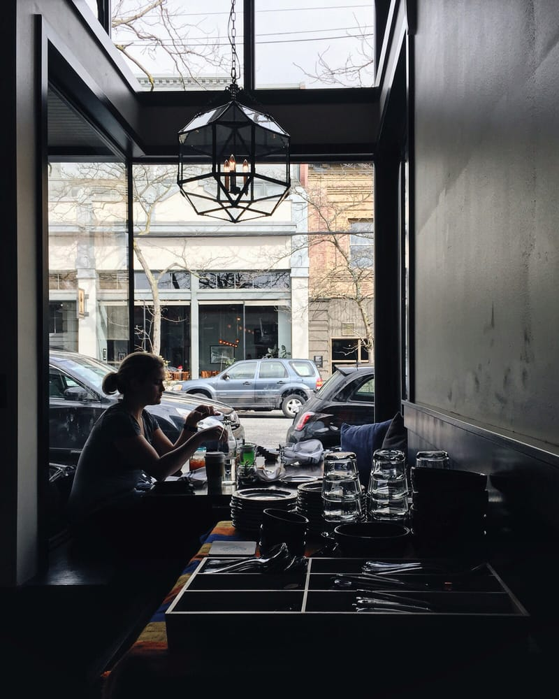light pours in from the windows on ballard ave. - yelp