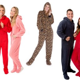 Something Adult red foot pajamas join
