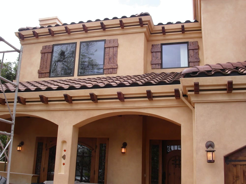 Spanish style distressed exterior yelp for Spanish style shutters
