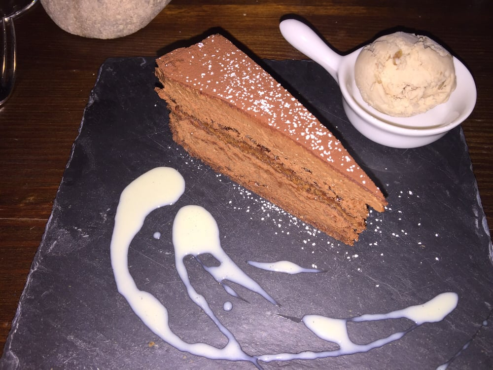 Chocolate cake and chestnut ice cream delicious yelp - L epicurien aix en provence ...