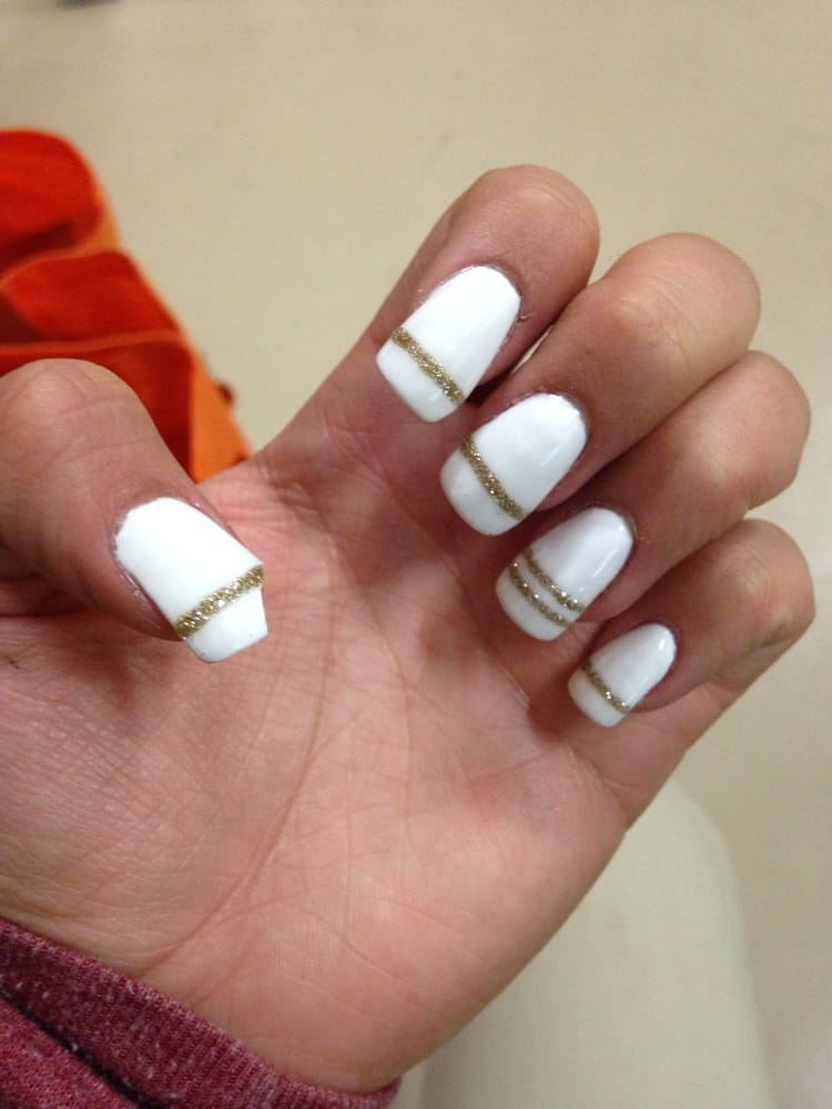 The acrylic nails are bumpy and misshapen. One of them broke the ...