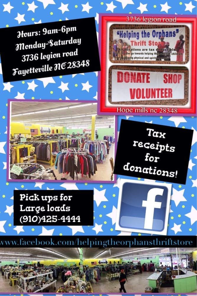Helping The Orphans Thrift Store: 3736 Legion Rd, Hope Mills, NC