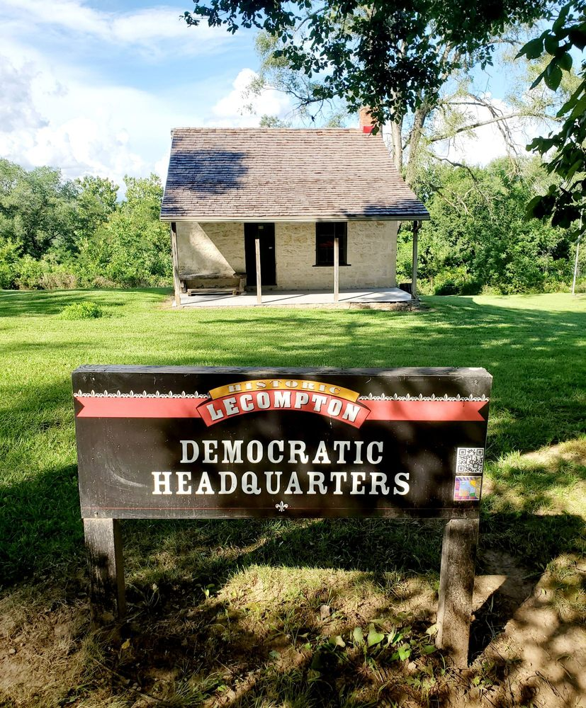 Territorial Democratic Headquarters: 720 E 2nd Street, Lecompton, KS