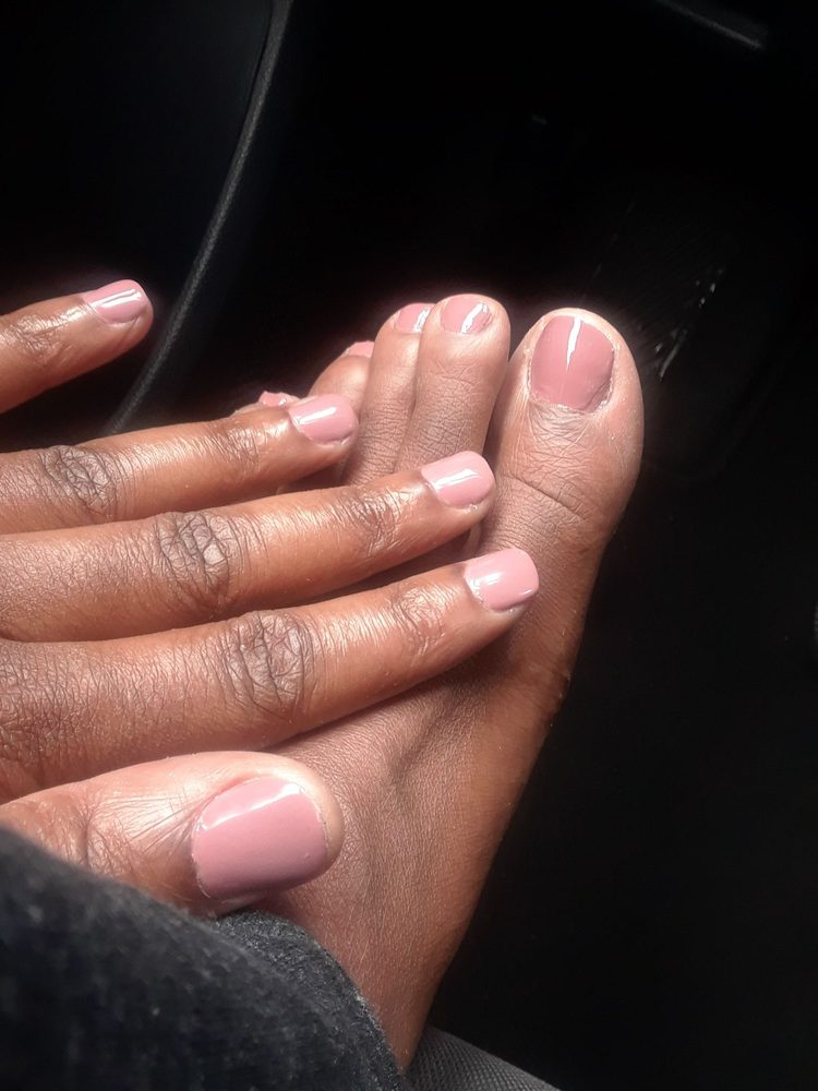 Gel mani and pedi... LOVE the color - Yelp