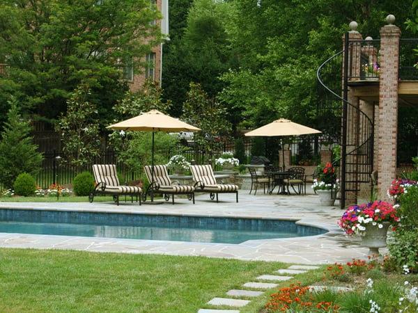 Swimming pool deck and spiral staircase in mclean va by for Pool design virginia