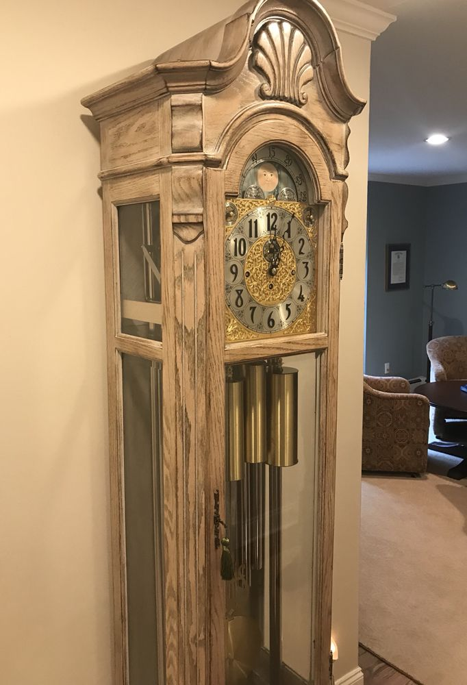 Herschede Tubular Chime Grandfather Clock ~ 9 Tube  Clock