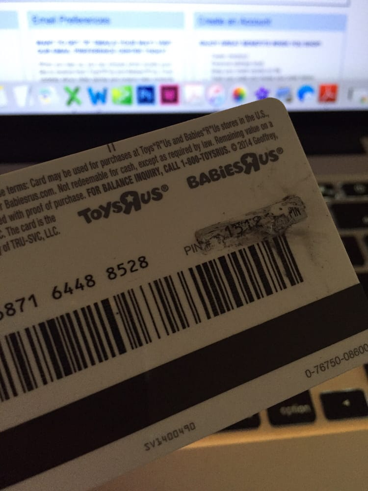 Toys R Us Gift Card Was Rejected Because It Was Manufactured So