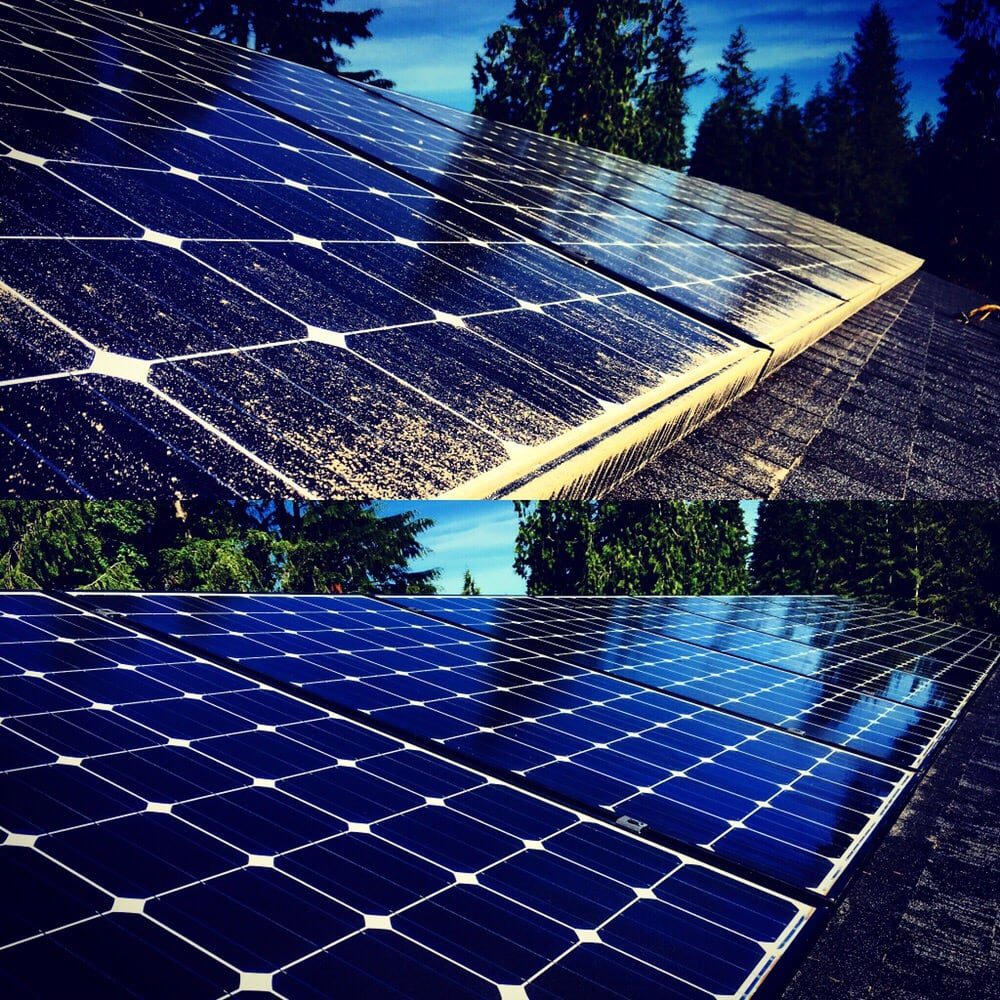 Before And After Of Solar Panel Cleaning Yelp