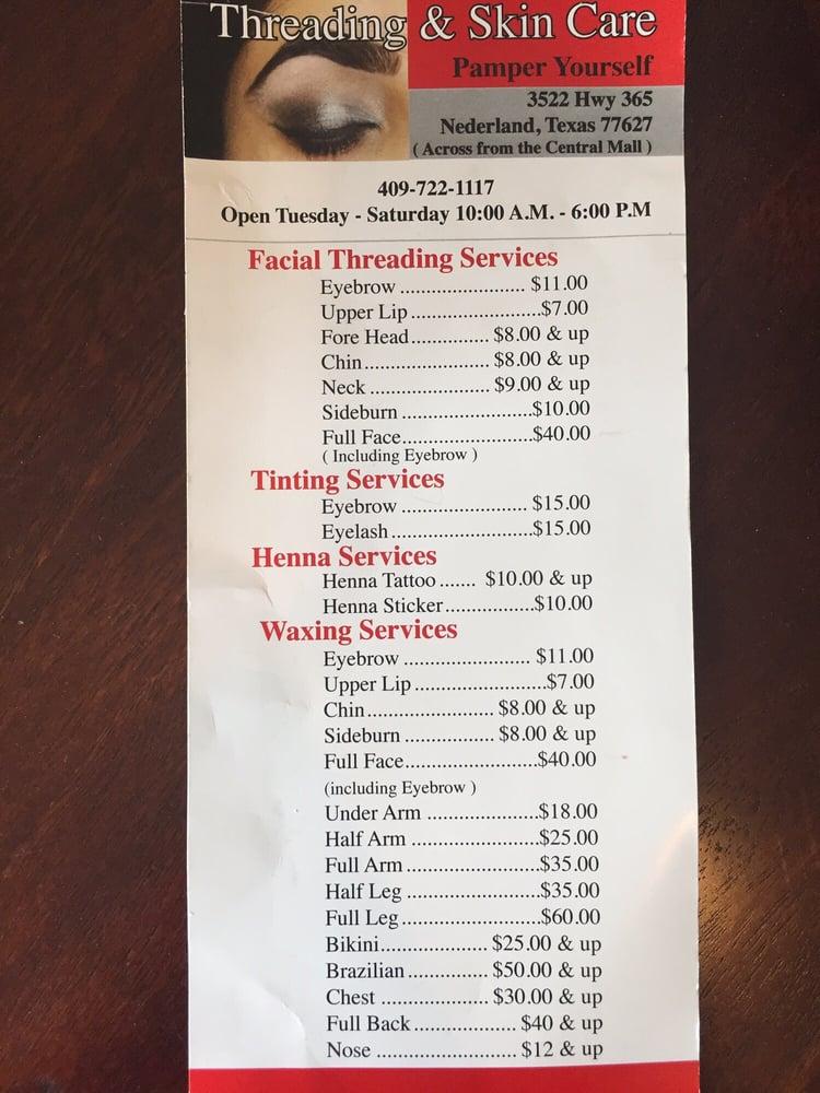 Threading & Skin Care: 3522 Highway 365, Nederland, TX
