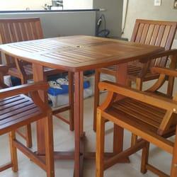 Photo Of Patio Furniture Rescue   Phoenix, AZ, United States. Teak Bar Table